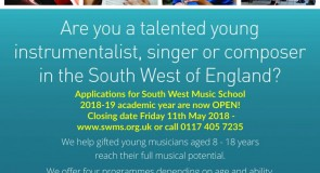 South West Music School Applications for 2018-19 are now OPEN!